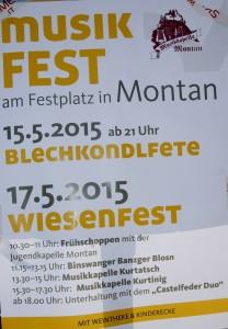 Plakat Montan/ Südtirol
